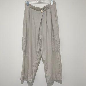EUC Zara paper bag pants Large
